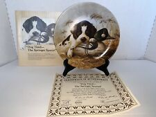 """Knowles """"Dog Tired� The Springer Spaniel Collector Decor Plate 1987"""