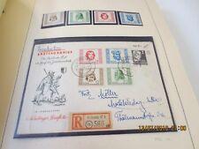 DDR Sammlung */o/**/Brief 1949-1968 im Schaubek mit guten Sätzen und Briefen