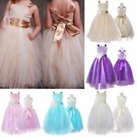 Flower Girl Princess Dress Party Wedding Pageant Bridesmaid Tutu Formal Dress