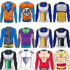 GOKU SUPER SAIYAN VEGETA DRAGON BALL Z maniche lunghe T-Shirt sport palestra