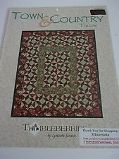 """THIMBLEBERRIES """"TOWN  & COUNTRY THROW"""" QUILT PATTERN BY LYNETTE JENSEN"""