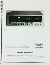 Marantz Model 5220 Cassette Deck Owners Manual