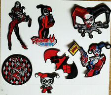 """Harley Quinn 2"""" to 4"""" Embroidered Patch Set of 7  (BMPA-Set-7)"""
