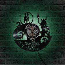 LED Wall Clock The Nightmare Before Christmas Vinyl Clocks Wall Watch Home Decor