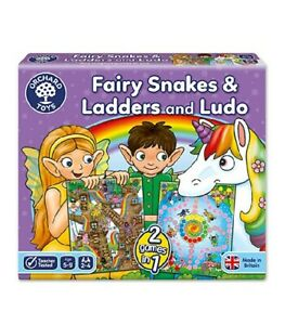 Orchard Toys Fairy Snakes and Ladders Ludo Game, Educational Family Game