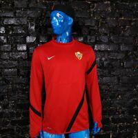 Almeria Football Training Jacket Long Sleeve Black Red Nike 447316-657 Mens L