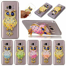 3D Eagle Patterned Glitter Liquid Novelty Dynamic Silicone TPU Case Lot Cover 1