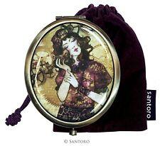 Compact Pocket Hand Folding Mirror Santoro Magnifying Cosmetic Make up Portable