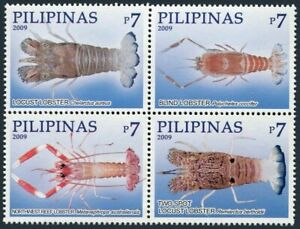 Philippines 3236 ad,327 ad sheet,MNH. Lobsters, 2009.