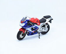 1:18 Welly Honda CBR900RR FIREBLADE Motorcycle Bike Model Toy Blue