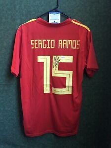 Sergio Ramos Spain Soccer Signed Adidas Jersey Beckett Autographed COA