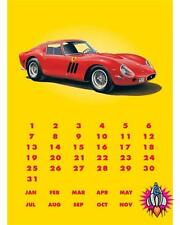FERRARI 250GTO PERPETUAL VINTAGE RETRO STYLE DISTRESSED METAL CALENDAR WALL SIGN
