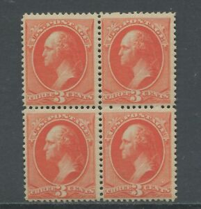 1887 US Stamp #214 Mint Never Hinged F/VF Block of 4 Catalogue Value $720