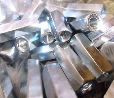 (25) Hex Rod Coupling Nuts 3/8-16 x 1 3/4 Threaded Rod Connectors Zinc