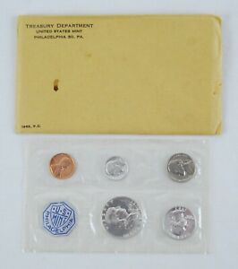 1963 United States Mint Silver Proof Set 5 Coins in Cellophane w/ Gov. Package
