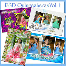 200 Photoshop Templates for Quinceañera-Quinceanera PSD Vol. 1