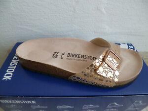 Birkenstock Madrid Mules Sandal Metallic Copper 1006693 New