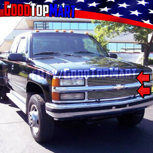 For Chevy C/K 1500+2500+3500 1994-1997 1998 1999 Polished 2PC OVERLAY Grilles
