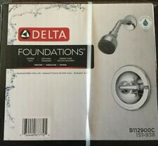Foundations Single-Handle 1-Spray Shower Only in Chrome (Valve Included)