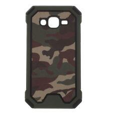 Samsung Galaxy J5 J500 (2015) Outdoor Case TPU Hybrid Camouflage Hülle Bag Grün
