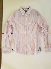 brooks brothers women's pink and white striped button down long sleeve shirt S 4