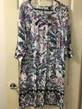 ROCKMANS Floral Secret Garden Shift Dress 3/4 Sleeves (Size 10) NWT RRP $69.99