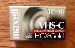 New Maxell VHS-C Tape TC-30 HGX-Gold Camcorder Video Camera Cassette