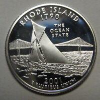 2001-S Rhode Island Gem DCAM Silver Proof State Quarter Stunning Coin