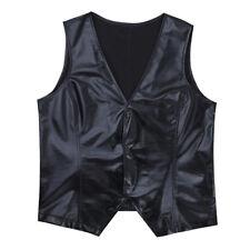 80s Rappers MC Hammer Vanilla Ice Adult Mens Wetlook Vest Costume Top Clubwear M