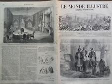 LE MONDE ILLUSTRE 1859 N 125 AUDIENCE PARTICULIERE PAR LE SULTAN A M. THOUVENEL
