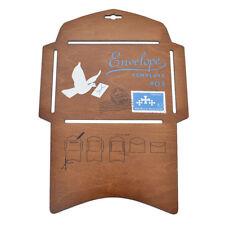 Wooden Envelope Template Retro Style Stencil DIY Manual Envelope Craft Making