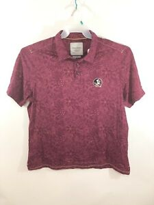 NWT TOMMY BAHAMA Collegiate Series Florida State Maroon Polo Shirt Size 2XL $120