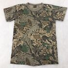 Vintage 90s Spartan Leaf Camouflage T-Shirt Youth Size L Single Stitch Hunting