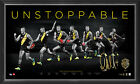 Dustin Martin Signed AFL Richmond Print Framed Unstoppable 2017 Brownlow Medal
