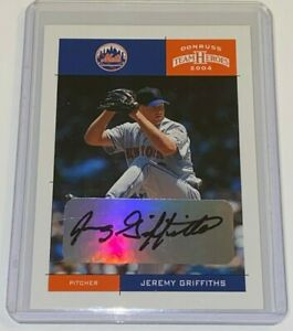 2004 Donruss Team Heroes Jeremy Griffiths #270 Autographed MLB New York Mets