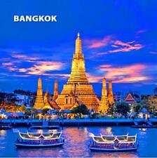 Bangkok tailandia foto imán epóxido skyline Souvenir, 8x8 cm