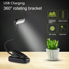 360° Flexible USB Clip-On LED Light Reading Study Desk Table Lamp Rechargeable