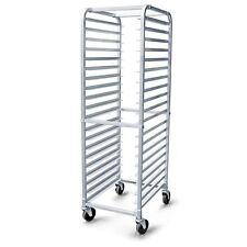 Aluminum Kitchen Rack 20 Sheet Pan Swivel Casters Restaurant Mobile Bun Storage