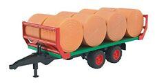 Bruder Ballentransportanhänger mit 8 Rundballen Traktor Anhänger Spielzeug NEU
