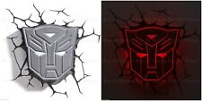 Transformers Autobot Shield 3D FX Room Deco Wall LED Night Light Gift