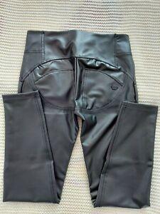 Freddy WR. UP Pantalone Lungo L 40 Mid Waist 3 Knöpfe  Eco Leder Schwarz Neu M