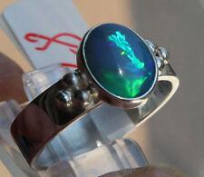 Super Crystal Opal 1.8 Karat 950er Silberring Größe 19,7 mm