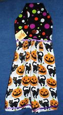 *NEW* Handmade Halloween Pumpkins & Cats Hanging Kitchen Hand Towel #1784