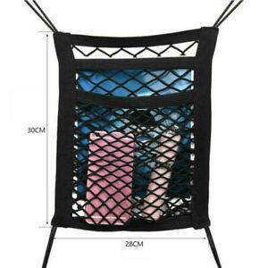 3 Layer Car Seat Hanging Bag Mesh Pocket,Net Storage Organiser