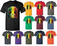 Rasta Lion Tshirt Smoker Rave Headphone Jamaica Colors Tee T Shirt Ma