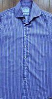 CHARLES TYRWHITT Mens SLIM FIT Pink Blue & White STRIPED Formal Shirt 15