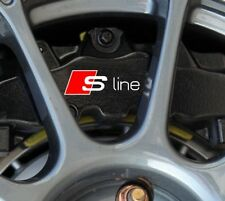 AUDI S-LINE Premium Brake Caliper Decals Stickers x6 Sline