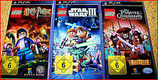 SONY PSP 3 LEGO GAMES+EXTRA: LEGO STARWARS, HARRY POTTER,PIRATES,INDIANA,BATMAN