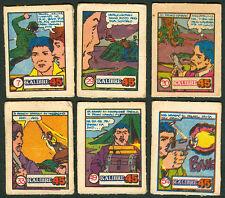 6 Vintage EXOTIC KALIBRE .45 Philippine TEKS / Trading Comic Cards 6