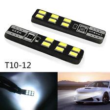 600LM 12V 6000K 3030 12 SMD T10 LED Bulb 194 168 W5W Car Auto Side Wedge Light